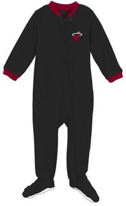 Miami Heat Infant Footed Sleeper Pajamas - 12 Months