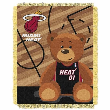 Miami Heat Jacquard BABY Throw Blanket