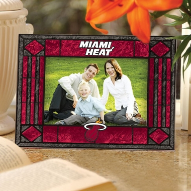 Miami Heat Landscape Art Glass Picture Frame