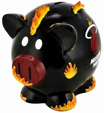 Miami Heat Large Thematic Piggy Bank