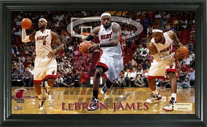 Miami Heat LeBron James Pano 12x20 Frame