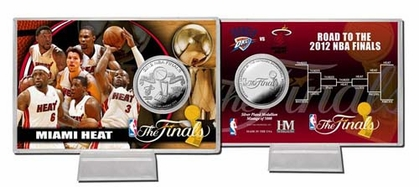 Miami Heat Miami Heat 2012 NBA Finals Silver Coin Card