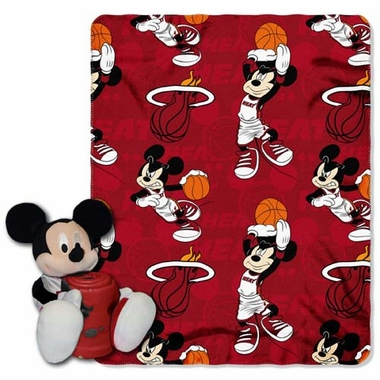 Miami Heat Mickey Hugger with Small Fleece Throw