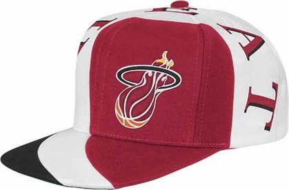 Miami Heat Mitchell & Ness The Swirl Retro Vintage Snap Back Hat