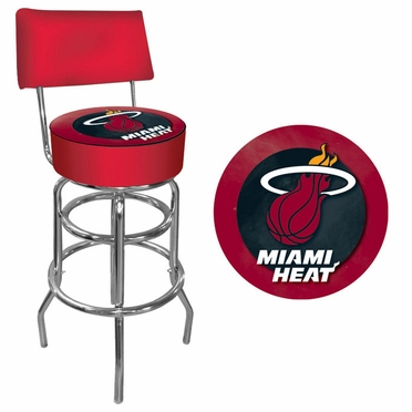 Miami Heat Padded Bar Stool with Back