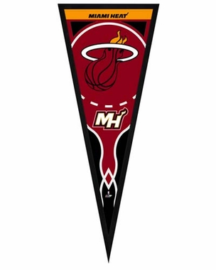 "Miami Heat Pennant Frame -13"" x 33"" (No Glass)"
