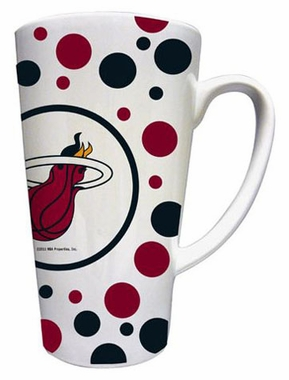 Miami Heat Polkadot 16 oz. Ceramic Latte Mug