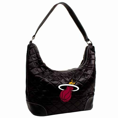Miami Heat Quilted Hobo Purse