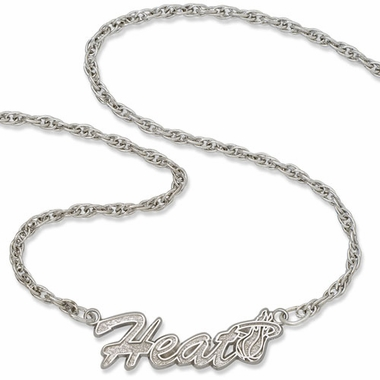 Miami Heat Script Necklace