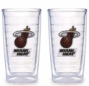 Miami Heat Set of TWO 16 oz. Tervis Tumblers