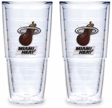 Miami Heat Set of TWO 24 oz. Tervis Tumblers