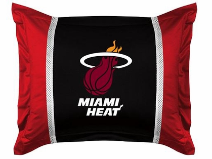 Miami Heat SIDELINES Jersey Material Pillow Sham