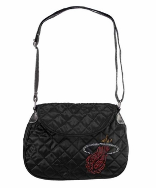 Miami Heat Sport Noir Quilted Saddlebag