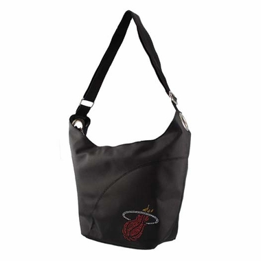 Miami Heat Sport Noir Sheen Hobo Purse