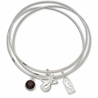 Miami Heat Triple Bangle Bracelet