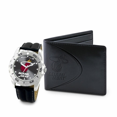 Miami Heat Watch and Wallet Gift Set