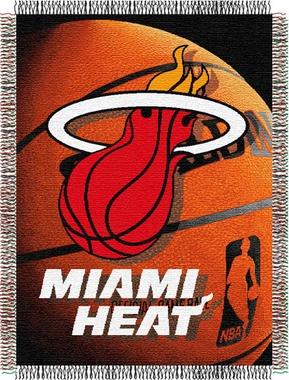 Miami Heat Woven Tapestry Blanket