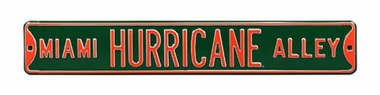 Miami Hurricane Alley Street Sign