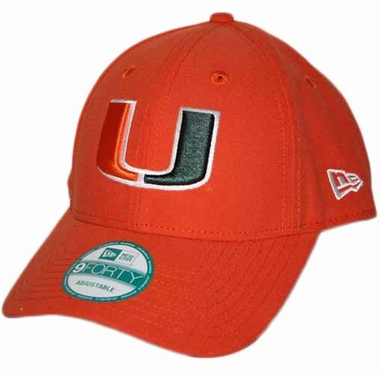 Miami Hurricanes 9Forty The League Adjustable Hat