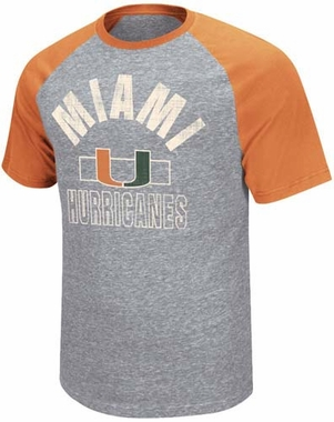"Miami Hurricanes ""Harrier"" Tri-Blend Men's T-Shirt"