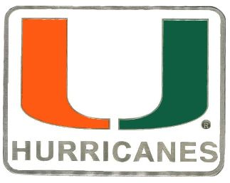 Miami Hurricanes Hitch Cover Class 3