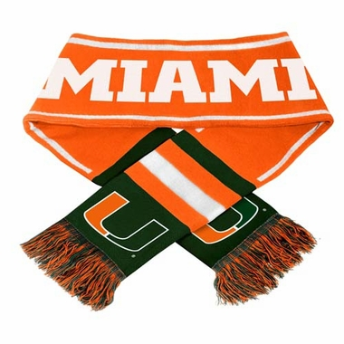 Miami Hurricanes NCAA 2013 Team Wordmark Knit Scarf