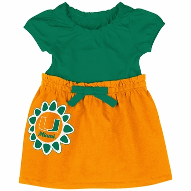 Miami Hurricanes NCAA Infant Girls Daisy Dress