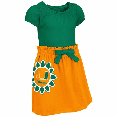 Miami Hurricanes NCAA Toddler Girls Daisy Dress