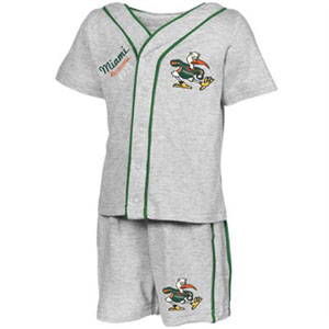 Miami Infant Batter Up Shirt & Shorts Set - 6-12 Months