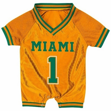 Miami Infant Pounce Football Jersey Onesie