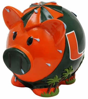 Miami Hurricanes Piggy Bank - Thematic Large
