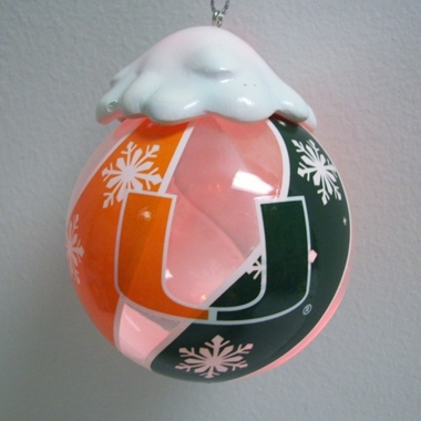 Miami Light Up Glass Ball Ornament