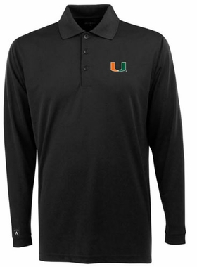 Miami Mens Long Sleeve Polo Shirt (Team Color: Black)