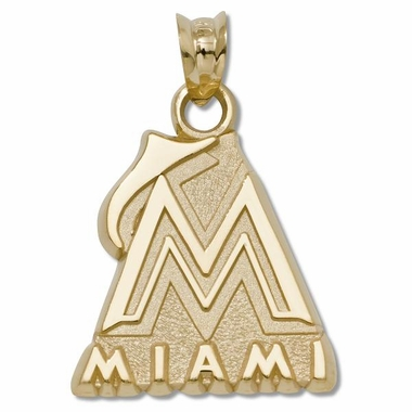 Miami Marlins 10K Gold Pendant