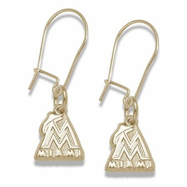 Miami Marlins 14K Gold Post or Dangle Earrings