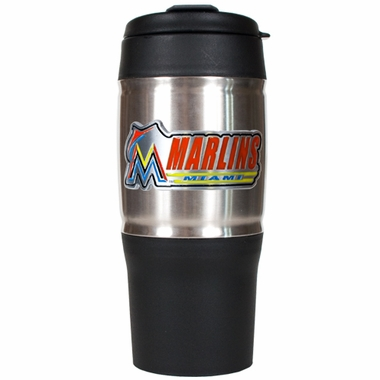 Miami Marlins 18oz Oversized Travel Tumbler