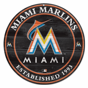 Miami Marlins 19.75 Inch Wood Sign