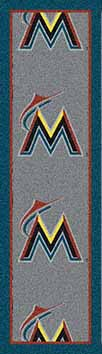 "Miami Marlins 2'1"" x 7'8"" Premium Runner Rug"
