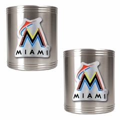 Miami Marlins 2 Can Holder Set