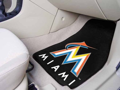 Miami Marlins 2 Piece Car Mats