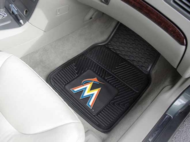 Miami Marlins 2 Piece Heavy Duty Vinyl Car Mats