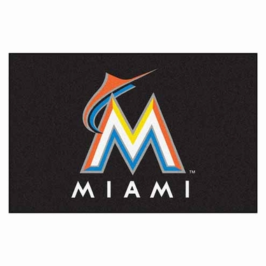 Miami Marlins 20 x 30 Rug
