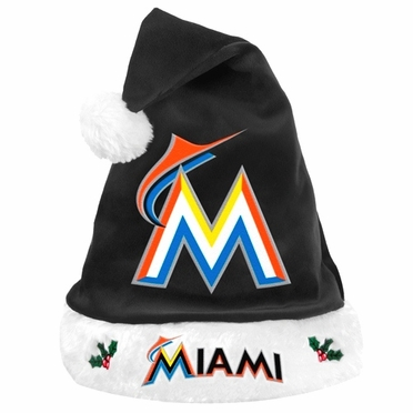 Miami Marlins 2012 Team Logo Plush Santa Hat