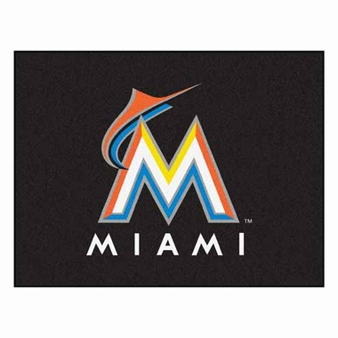 Miami Marlins 34 x 45 Rug