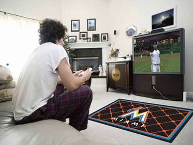 Miami Marlins 4 Foot x 6 Foot Rug