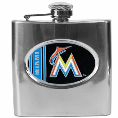 Miami Marlins 6 oz. Hip Flask