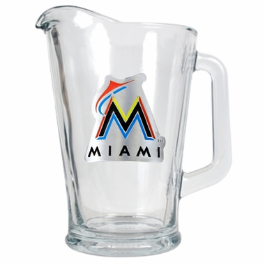 Miami Marlins 60 oz Glass Pitcher