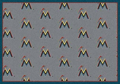 "Miami Marlins 7'8 x 10'9"" Premium Pattern Rug"