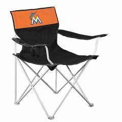 Miami Marlins Canvas Adult Folding Logo Chair