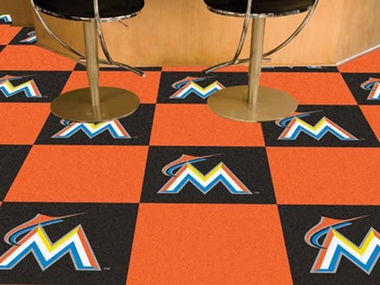 Miami Marlins Carpet Tiles